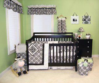 VERSAILLES B&W   4 PC CRIB   BABY BEDDING SETS Baby