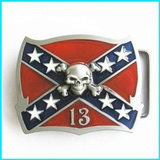 Cool Western REBEL CONFEDERATE FLAG Belt Buckle T 151 Everything Else