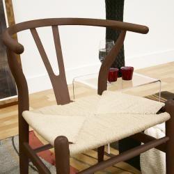 Wishbone Dark brown Wood Y Chair
