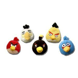 Angry Birds 8 Inch Set of 5 DELUXE Plush Toys With Sound