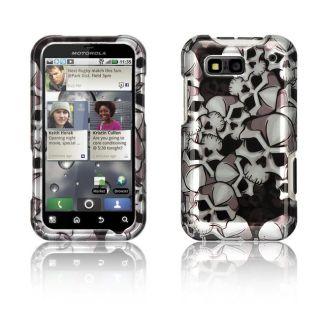 Luxmo Motorola Defy Black Skull Protector Case