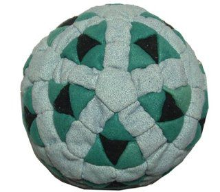 Super Hero Teal, Blue & Black 152 Panel Hacky Sack