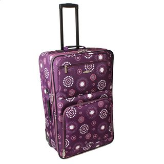 Rockland Purple Pearl 24 inch Expandable Rolling Upright Luggage