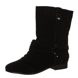 Sam & Libby Womens Fabulist Black Leather Boots FINAL SALE