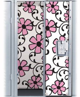Pink Flower Scroll Locker Wallpaper Toys & Games