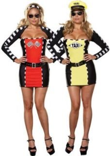 Plus Size Sexy Reversible Race Car Driver and Taxi Costume