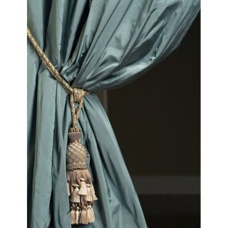 Signature Sea Mist Faux Silk Taffeta 96 inch Curtain (Open Box