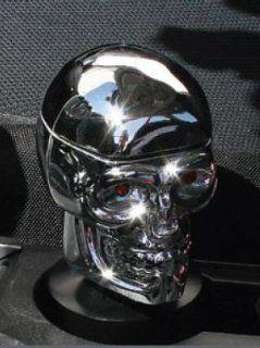 Pilot Automotive IP 153C Skull Ashtray Chrome with Cup Holder Base