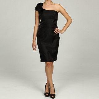 Jessica Howard Petite Black One Shoulder Dress FINAL SALE