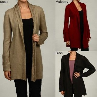 Stephanie Rogers Womens Shawl Collar Sweater