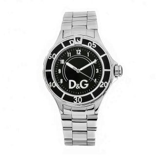 Dolce & Gabbana Womens Anchor Stainless Steel Silver Dial Watch