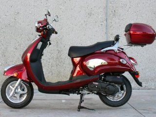 Sunny Powersports MC D150M RED Gas 150cc Moped Scooter w