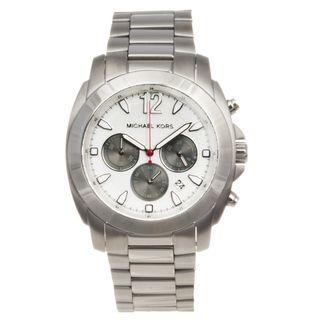 Michael Kors Mens Stainless Steel Bradshaw Chronograph Watch