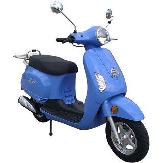 Maple WY 150T 41 BLUE 150cc Gas 4 Stroke Moped Scooter w