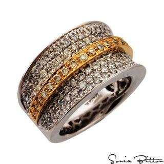 Sonia Bitton 14k Two Tone Gold 1 1/2ct TDW Diamond Ring (G H, SI1 SI2