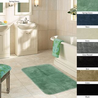 Plush 24 x 40 Non skid Bath Rug (Set of 2)