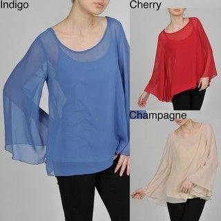 AnnaLee + Hope Womens Sheer Bell Sleeve Top/ Cami