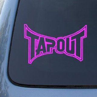 TAPOUT MMA LOGO (outline design)   6 PINK DECAL   Vinyl Car Decal