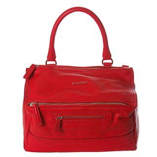 Givenchy Pandora Medium Red Leather Satchel