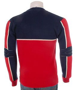 Ellesse Mens 100 Pure Wool Retro Ski Sweater