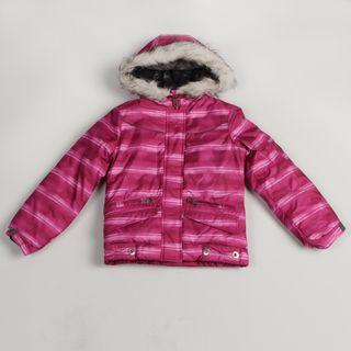 London Fog Girls Pink Striped Jacket