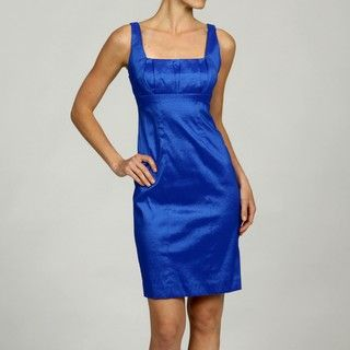 Calvin Klein Womens Sleeveless Square Neck Dress