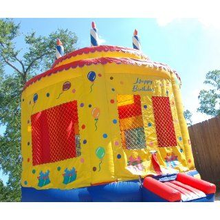 Moonwalk Birthday Cake Inflatable Bounce House: Everything