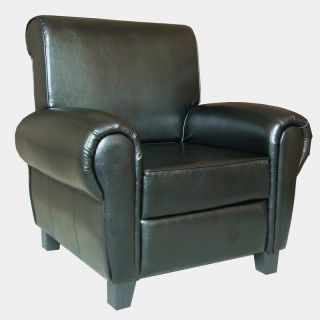 Black Leather Accent Club Chair
