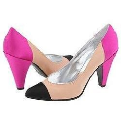 Marc by Marc Jacobs 684933 Black/Flesh/Fuxia Satin Pumps/Heels