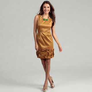 Max & Cleo Womens Sleeveless Pleated Skirt Dress