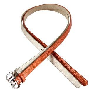 Steve Madden Gold/ Orange Single Prong Belts (Pack of 2)