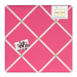 Sweet JoJo Designs Pink and Green Fabric Memory Board
