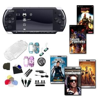 Sony PSP 3000 Holiday Bundle  2 Games, 3 UMD Movies, and 26