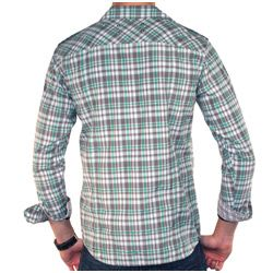 191 Unlimited Mens Green Plaid Shirt