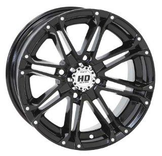 156 STI HD3 Alloy Wheel 12x7 4.0 + 3.0 Gloss Black KTM POLARIS