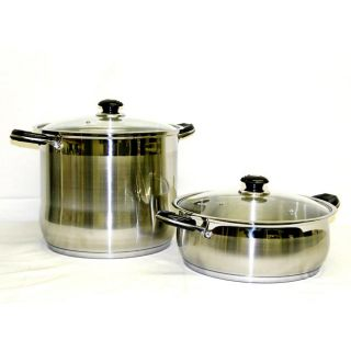 Prime Pacific 18/10 Heavy Duty Stainless Steel 24 qt. and 10 qt. Stock