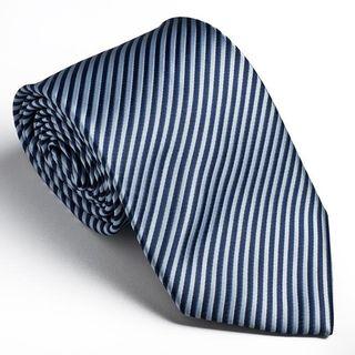 Platinum Ties Mens Striped Blue Cookie Tie
