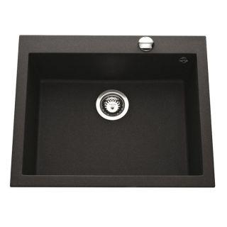 Cuve Quadra 610x500 coloris granit noir métal   Achat / Vente LAVABO