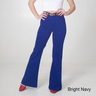 American Apparel Womens Stretch Twill Wide Leg Pants