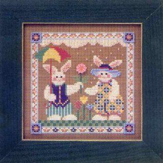 Spring Raindrops   Beaded Cross Stitch Kit MHCB162 Arts