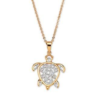 Toscana 18k Gold plated Filigree Turtle Pendant