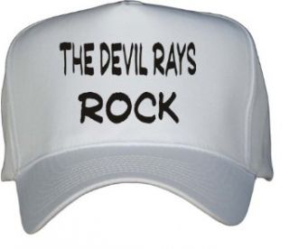 The Devil Rays Rock White Hat / Baseball Cap Clothing