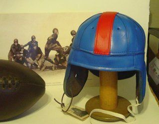 1940 Ole Miss & U. Kansas Leather Football helmet Sports
