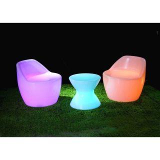 Salon 3 pièces lumineux multicolore SANS FIL à LED   Achat / Vente