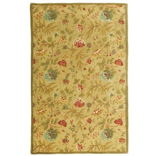 Hand tufted Antique Gold/ Gold Wool Rug (5 x 8)