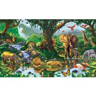 (99x164) Natures Harmony Jungle Animals Huge Wall Mural