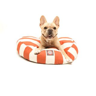 Majestic Pet Burnt Orange Vertical Stripe Round Pet Bed