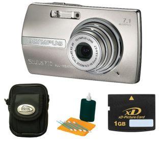 Olympus Stylus 710 7MP Digital Camera w/ Bonus Kit (Refurbished