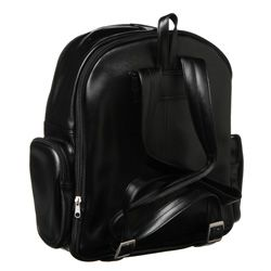 Royce Black 100 percent Nappa Leather Expandable Backpack with Pockets