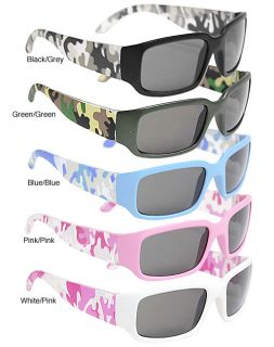 Adi Kids 6737AF Girls 100 percent UV Protected Camo Sunglasses